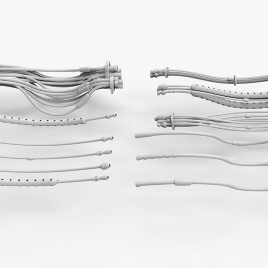 Sci-Fi Cables, Wires and Tubes Kit royalty-free 3d model - Preview no. 5