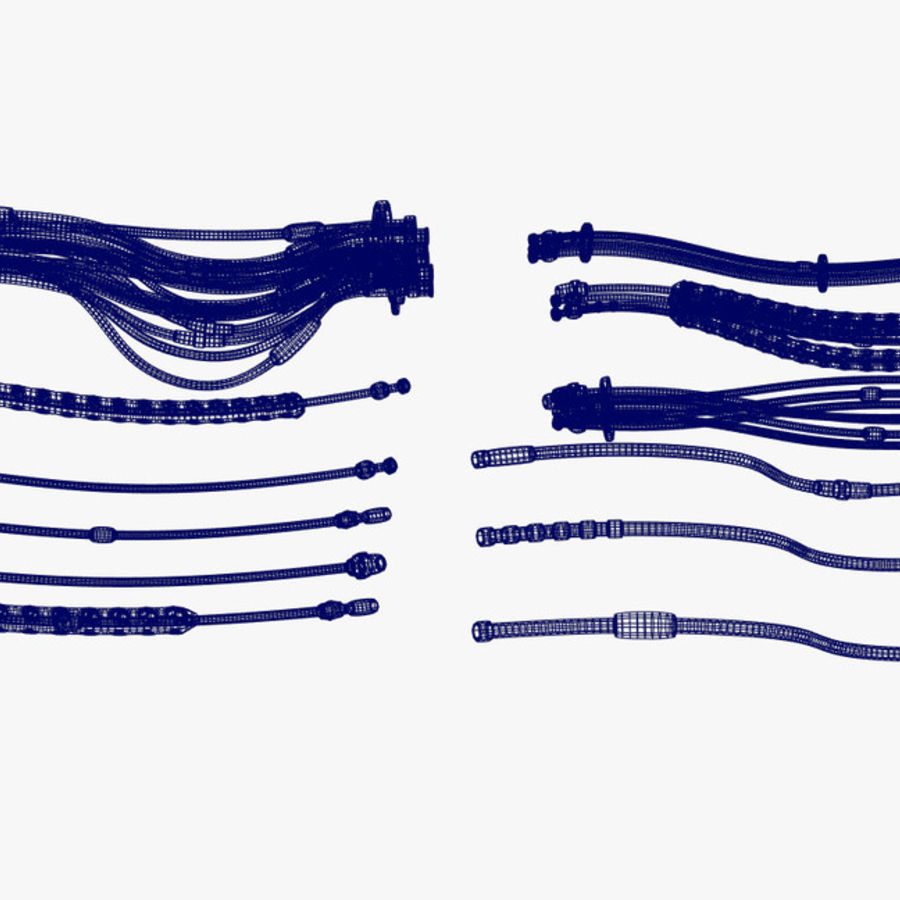 Sci-Fi Cables, Wires and Tubes Kit royalty-free 3d model - Preview no. 11