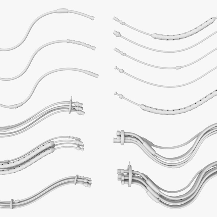 Sci-Fi Cables, Wires and Tubes Kit royalty-free 3d model - Preview no. 2
