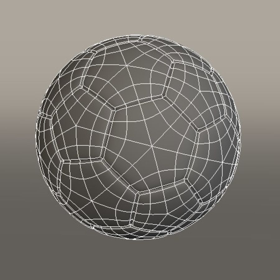 Soccer Ball royalty-free 3d model - Preview no. 6