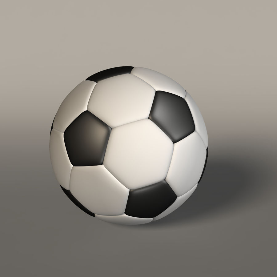 Soccer Ball royalty-free 3d model - Preview no. 4