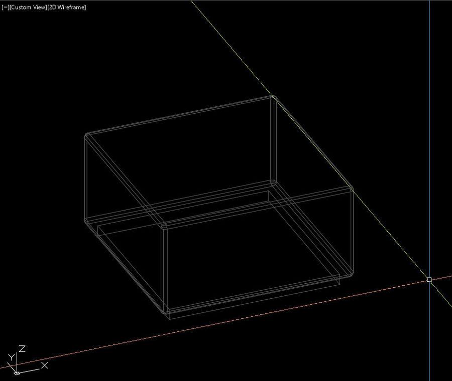 Tabouret de rue royalty-free 3d model - Preview no. 5