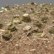 Bambu Kıyılmış toprak örtüsü 3d model