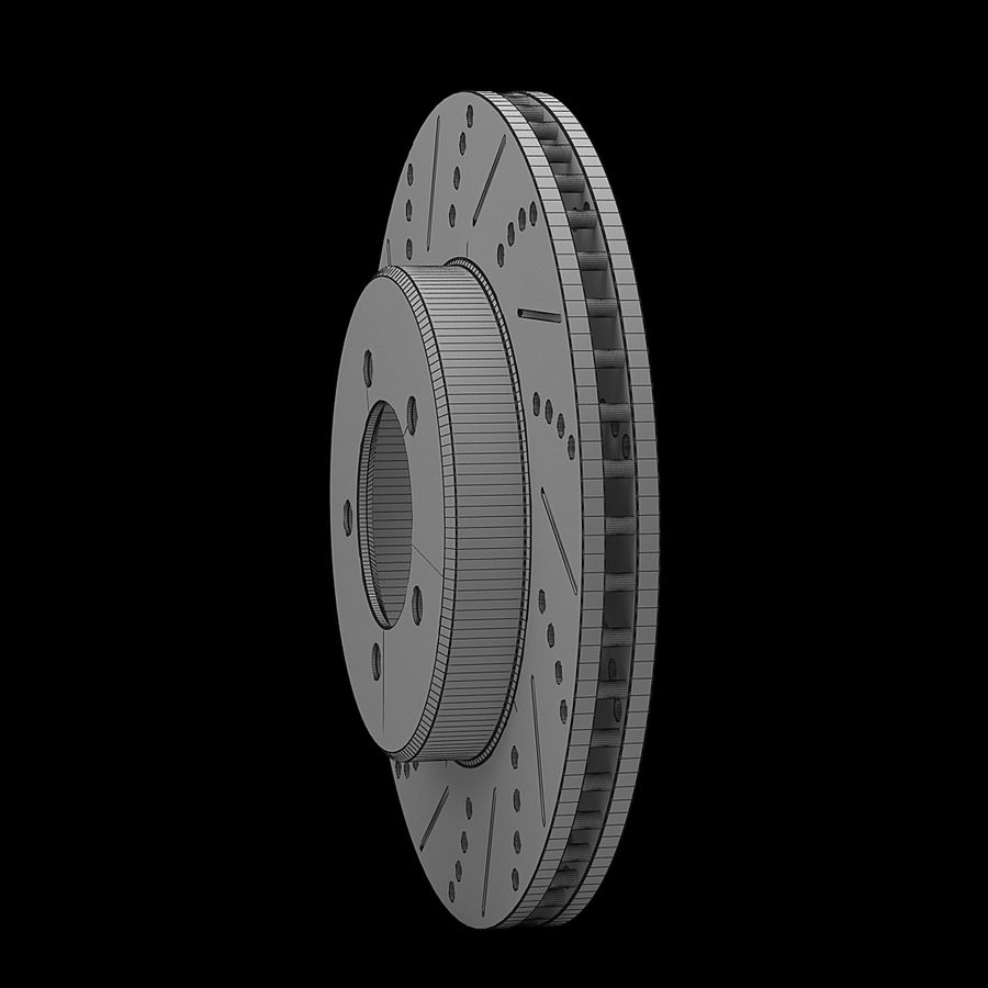 Bremsscheibe royalty-free 3d model - Preview no. 12