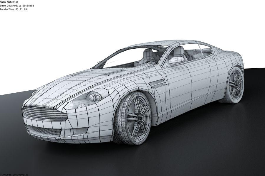 Aston Martin DB9 royalty-free 3d model - Preview no. 3