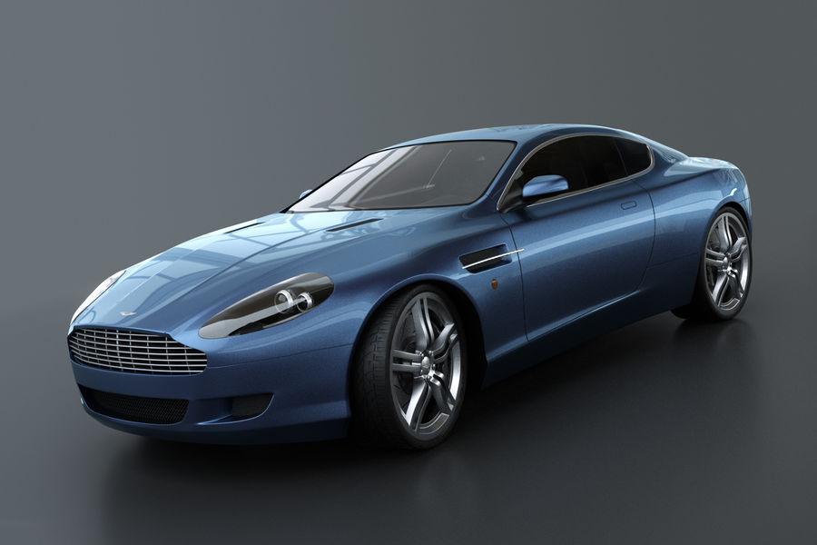Aston Martin DB9 royalty-free 3d model - Preview no. 1