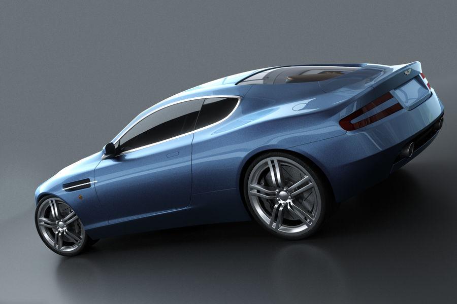 Aston Martin DB9 royalty-free 3d model - Preview no. 2