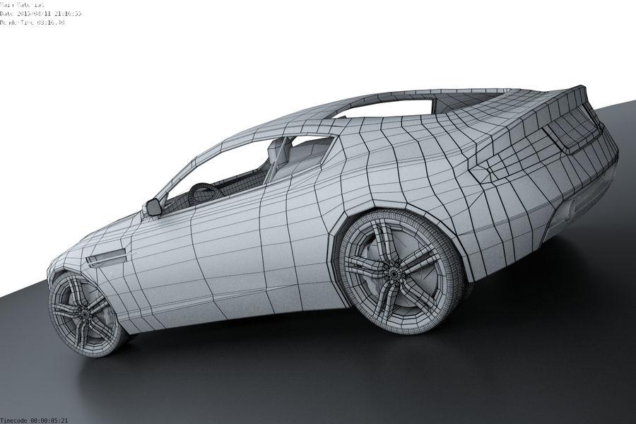 Aston Martin DB9 royalty-free 3d model - Preview no. 4