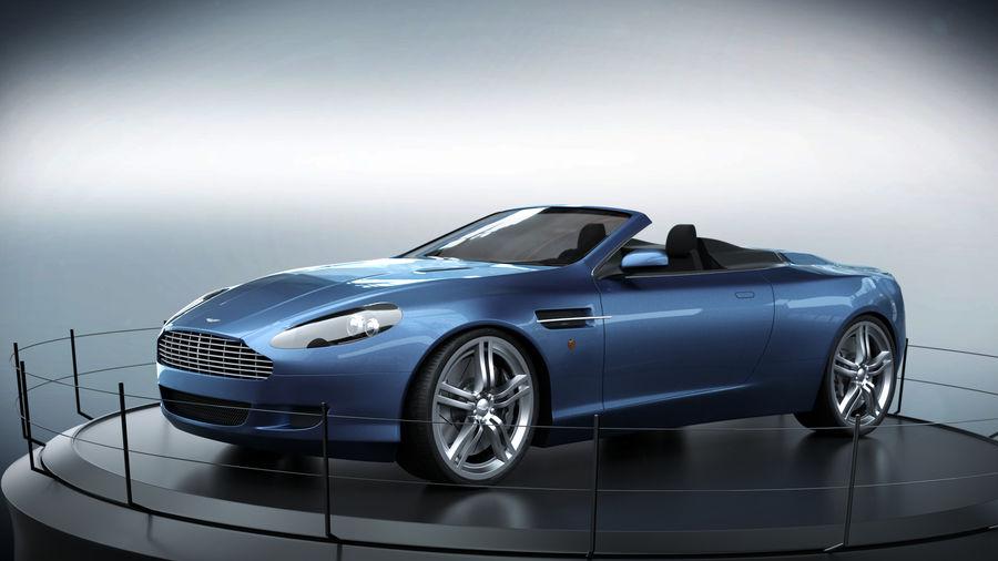 Aston Martin DB9 royalty-free 3d model - Preview no. 5