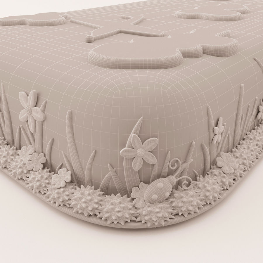 Birthday Cake royalty-free 3d model - Preview no. 6