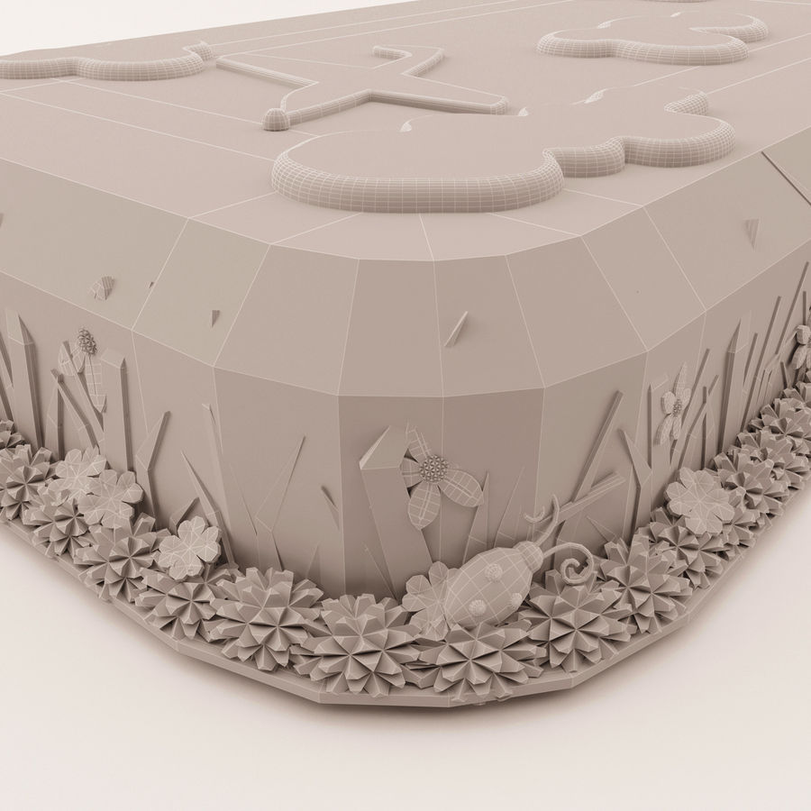 Birthday Cake royalty-free 3d model - Preview no. 7