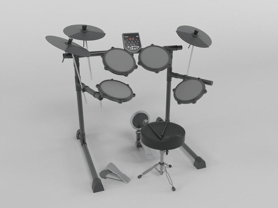 ЭЛЕКТРОННЫЙ БАРАБАН royalty-free 3d model - Preview no. 1