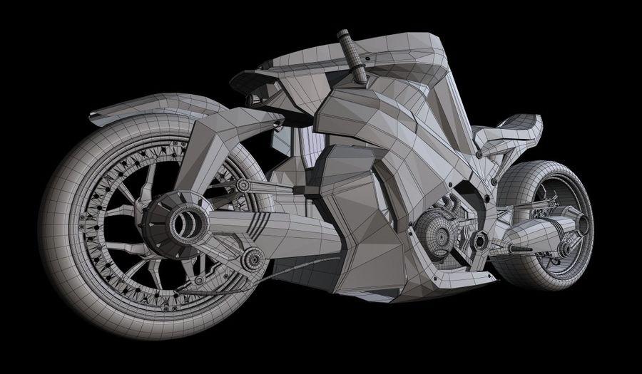 摩托车Ostoure royalty-free 3d model - Preview no. 6