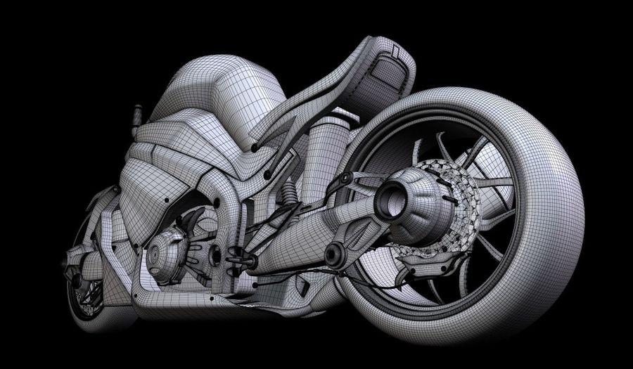 摩托车Ostoure royalty-free 3d model - Preview no. 11