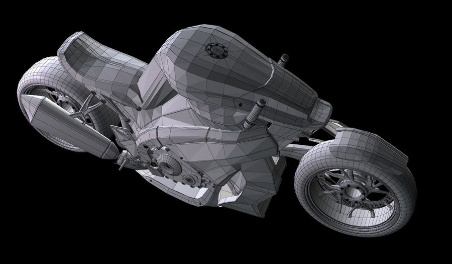 Motorcycle Ostoure royalty-free 3d model - Preview no. 12