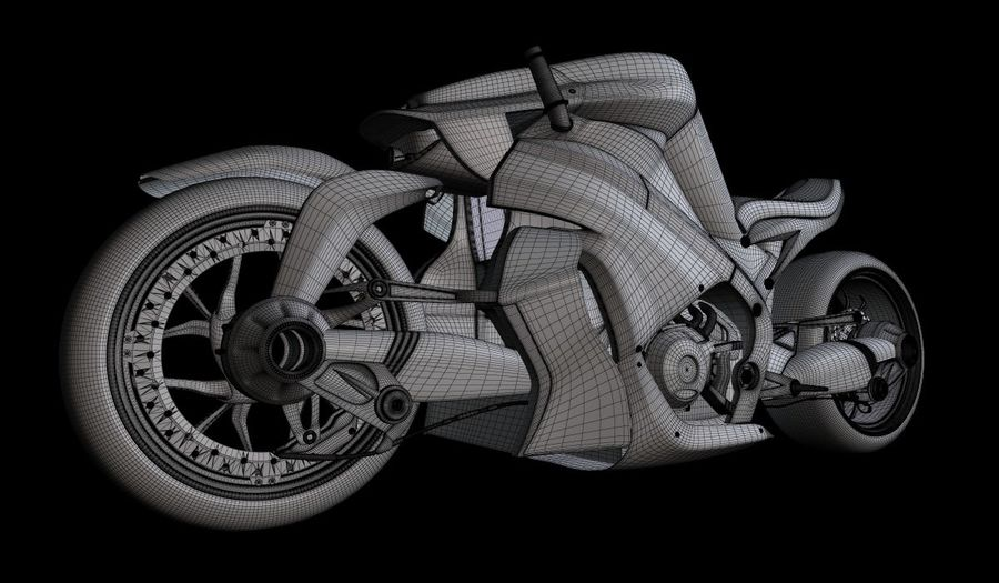 摩托车Ostoure royalty-free 3d model - Preview no. 8