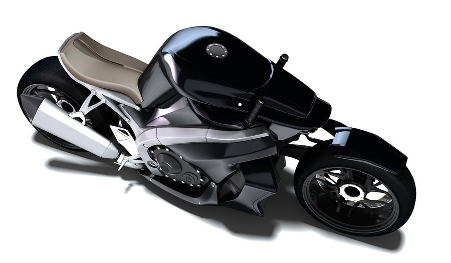 Motorcycle Ostoure royalty-free 3d model - Preview no. 3