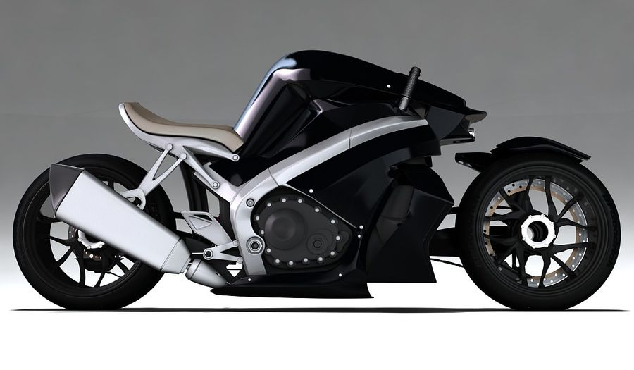 Motorcycle Ostoure royalty-free 3d model - Preview no. 4