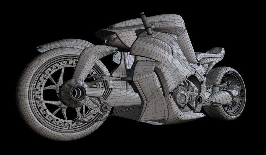摩托车Ostoure royalty-free 3d model - Preview no. 7