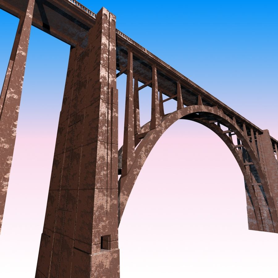 Bixby Creek Bridge royalty-free 3d model - Preview no. 2