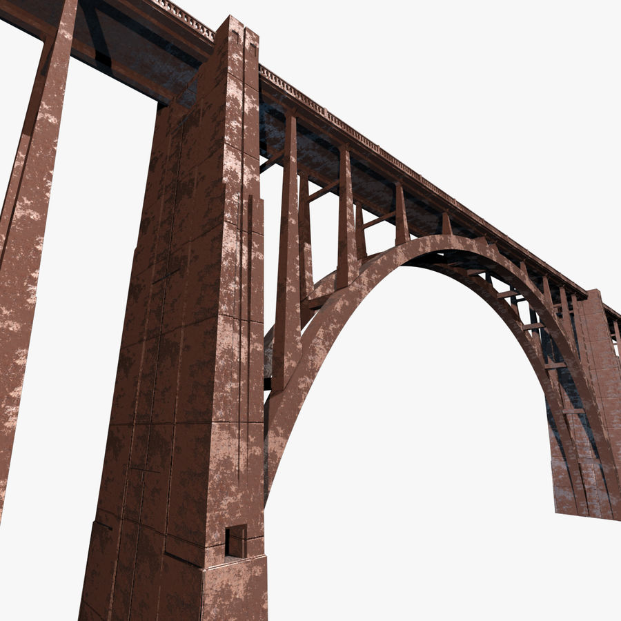 Bixby Creek Bridge royalty-free 3d model - Preview no. 1