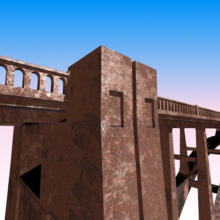 Bixby Creek Bridge royalty-free 3d model - Preview no. 5