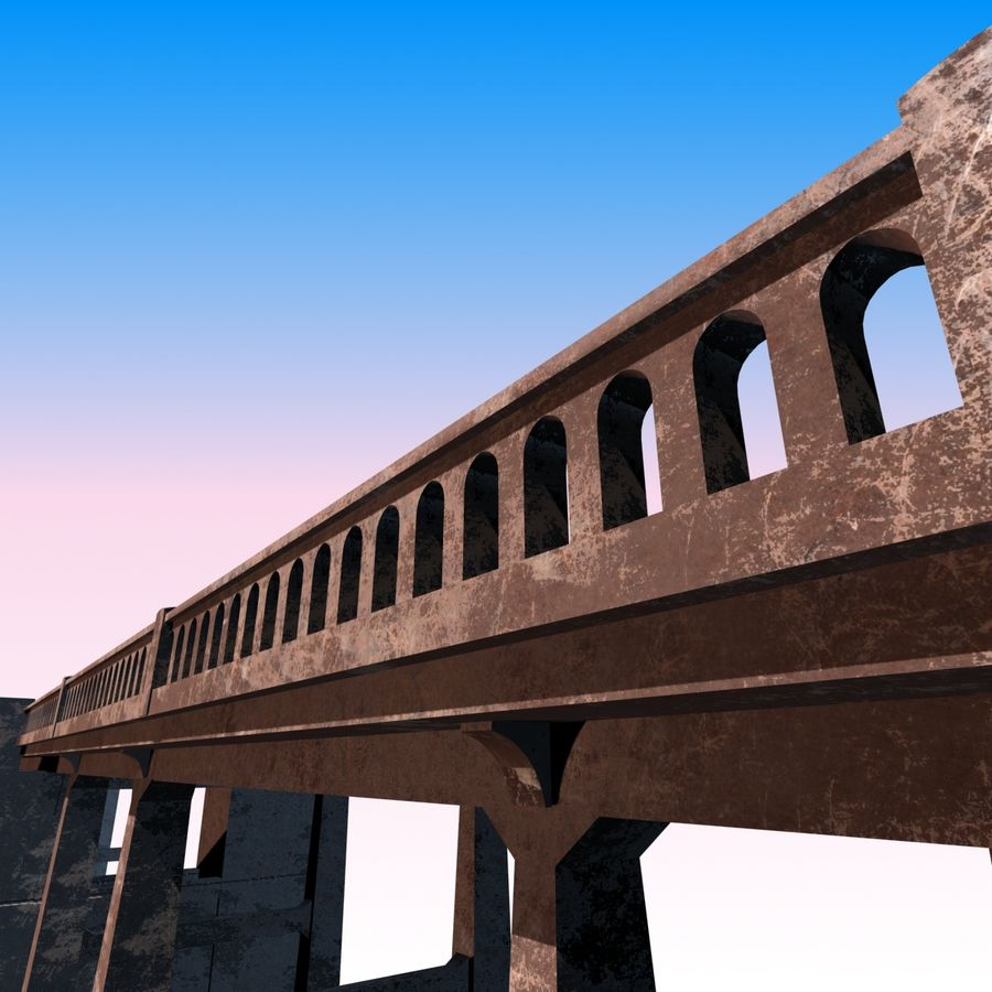 Bixby Creek Bridge royalty-free 3d model - Preview no. 8