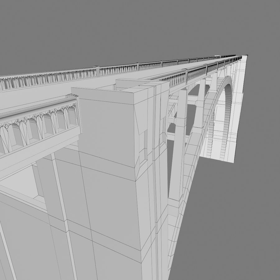 Bixby Creek Bridge royalty-free 3d model - Preview no. 11