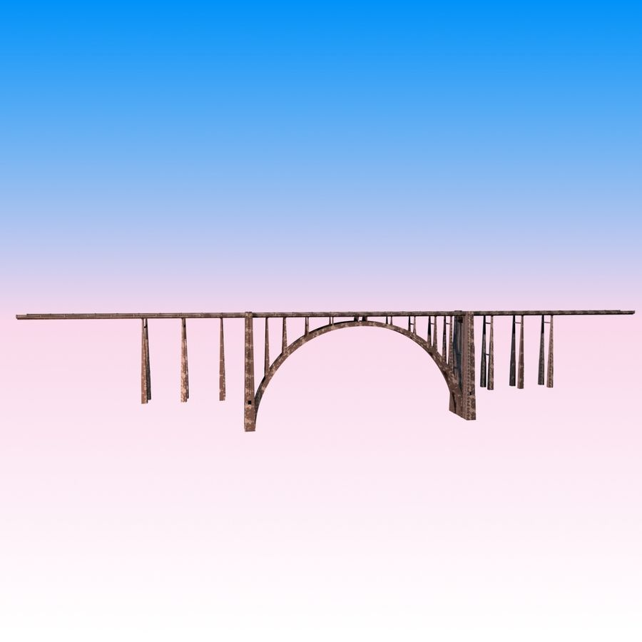 Bixby Creek Bridge royalty-free 3d model - Preview no. 3