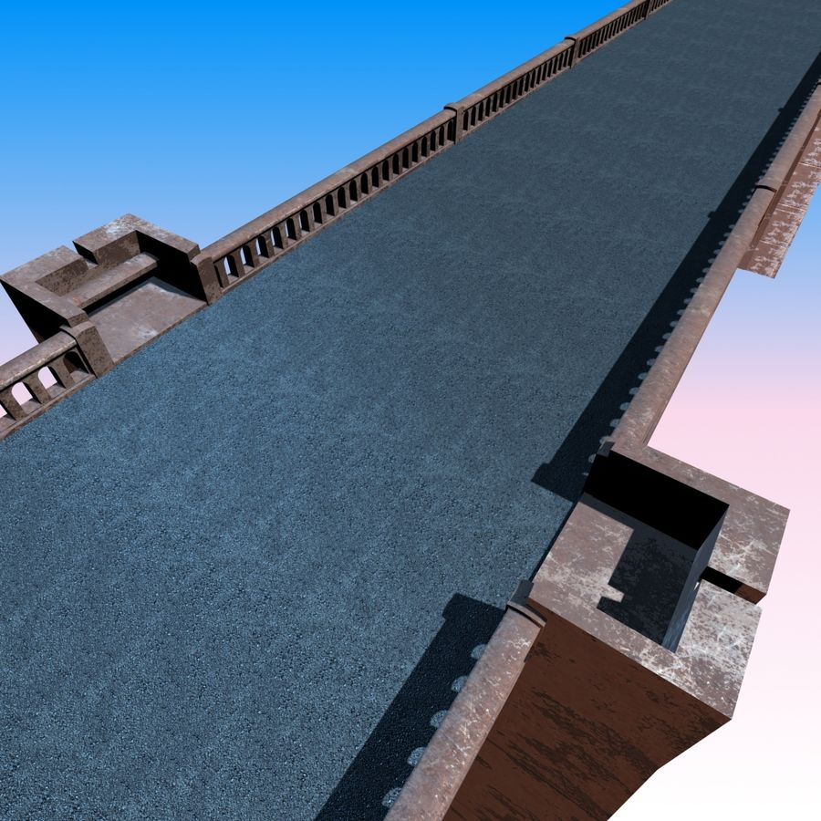 Bixby Creek Bridge royalty-free 3d model - Preview no. 6