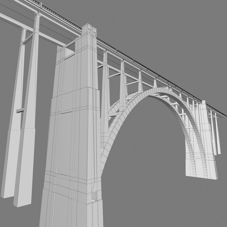 Bixby Creek Bridge royalty-free 3d model - Preview no. 10