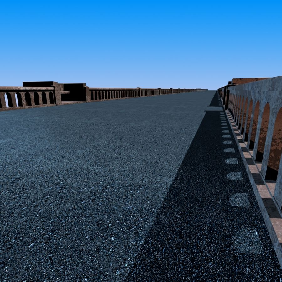 Bixby Creek Bridge royalty-free 3d model - Preview no. 7