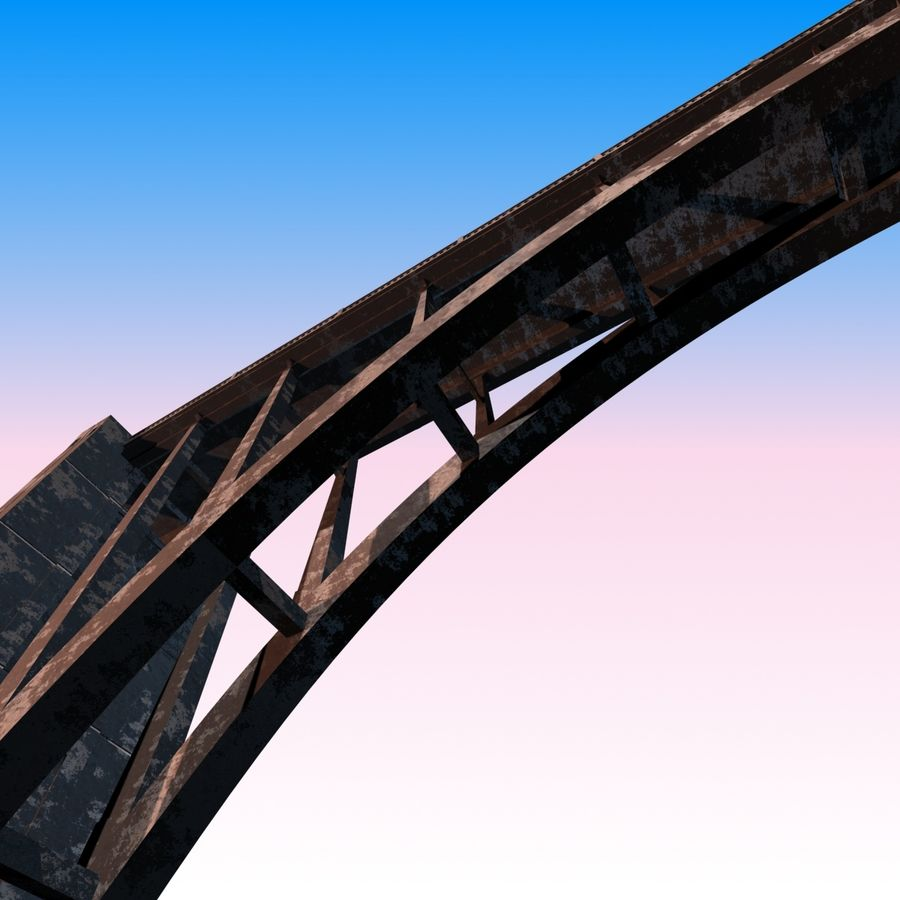 Bixby Creek Bridge royalty-free 3d model - Preview no. 9