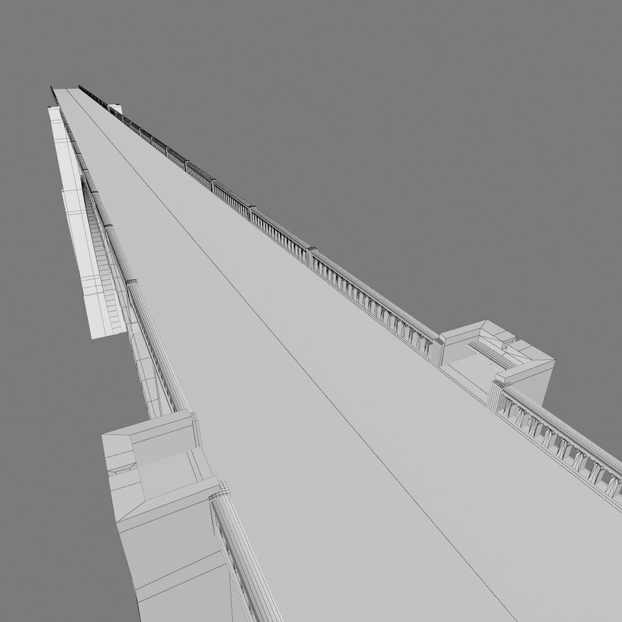Bixby Creek Bridge royalty-free 3d model - Preview no. 16