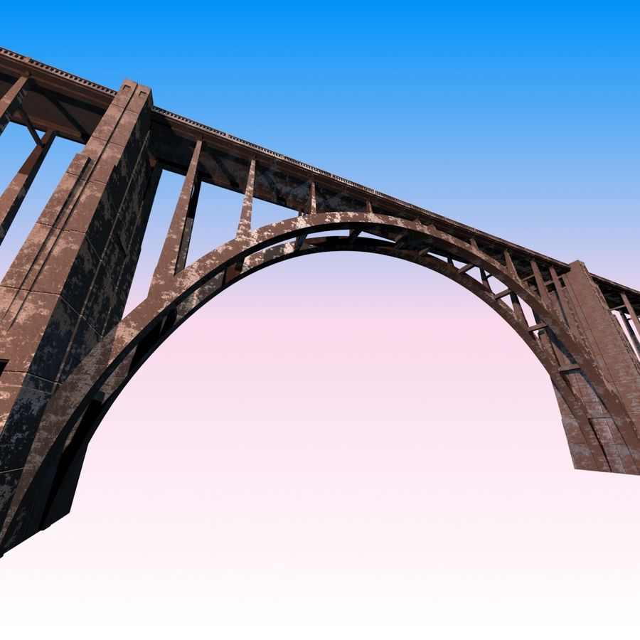 Bixby Creek Bridge royalty-free 3d model - Preview no. 4