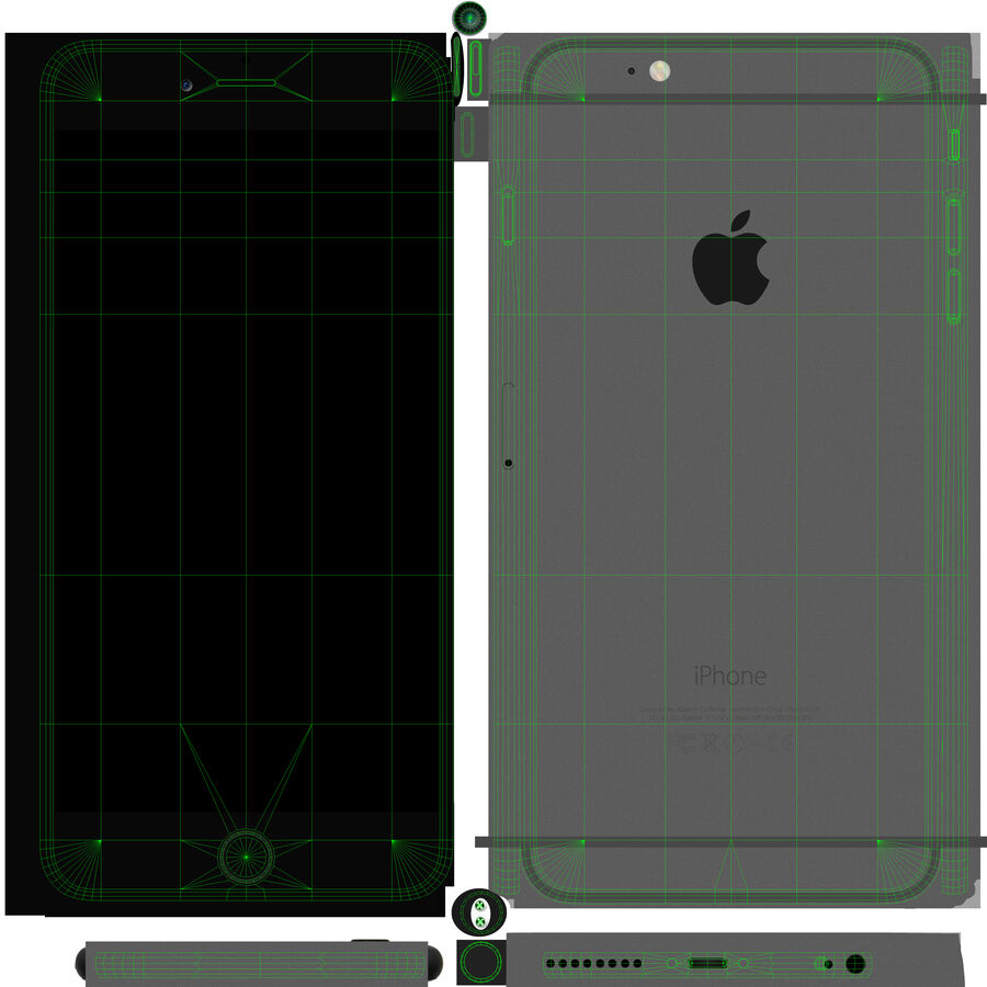 Apple iPhone 6 Plus royalty-free 3d model - Preview no. 16