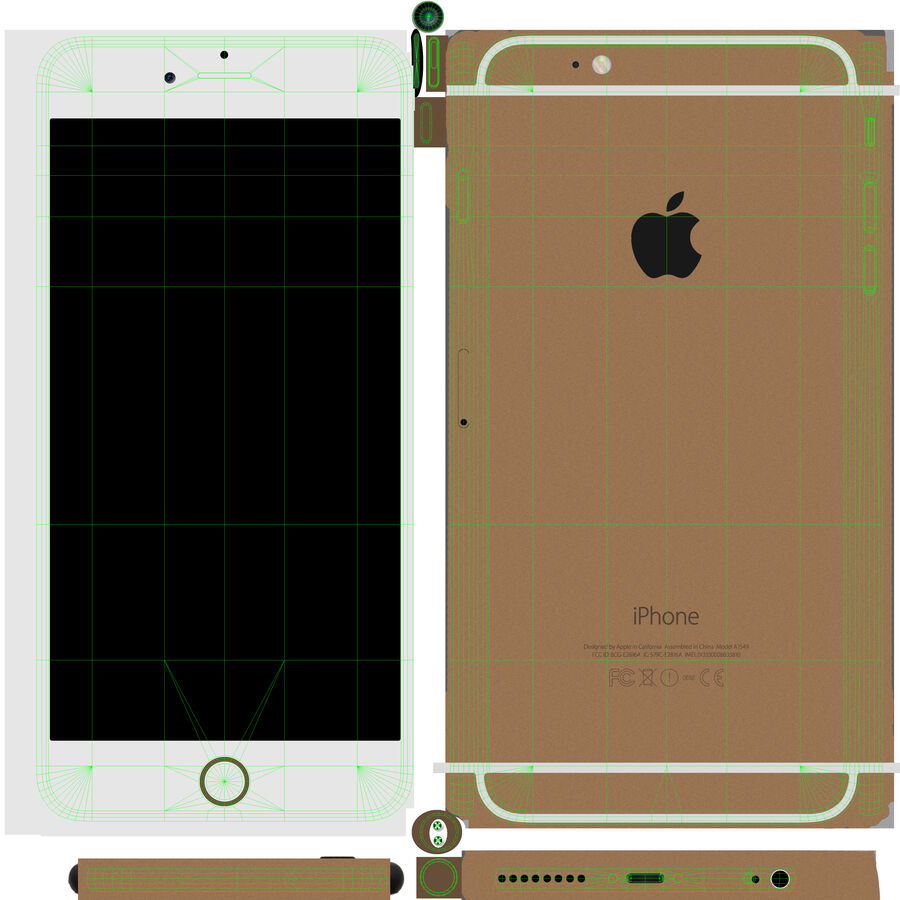 Apple iPhone 6 Plus royalty-free 3d model - Preview no. 17