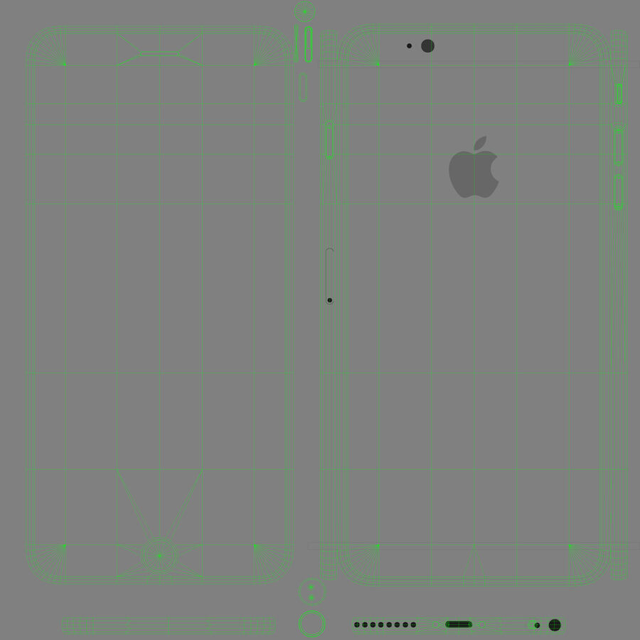 Apple iPhone 6 Plus royalty-free 3d model - Preview no. 14