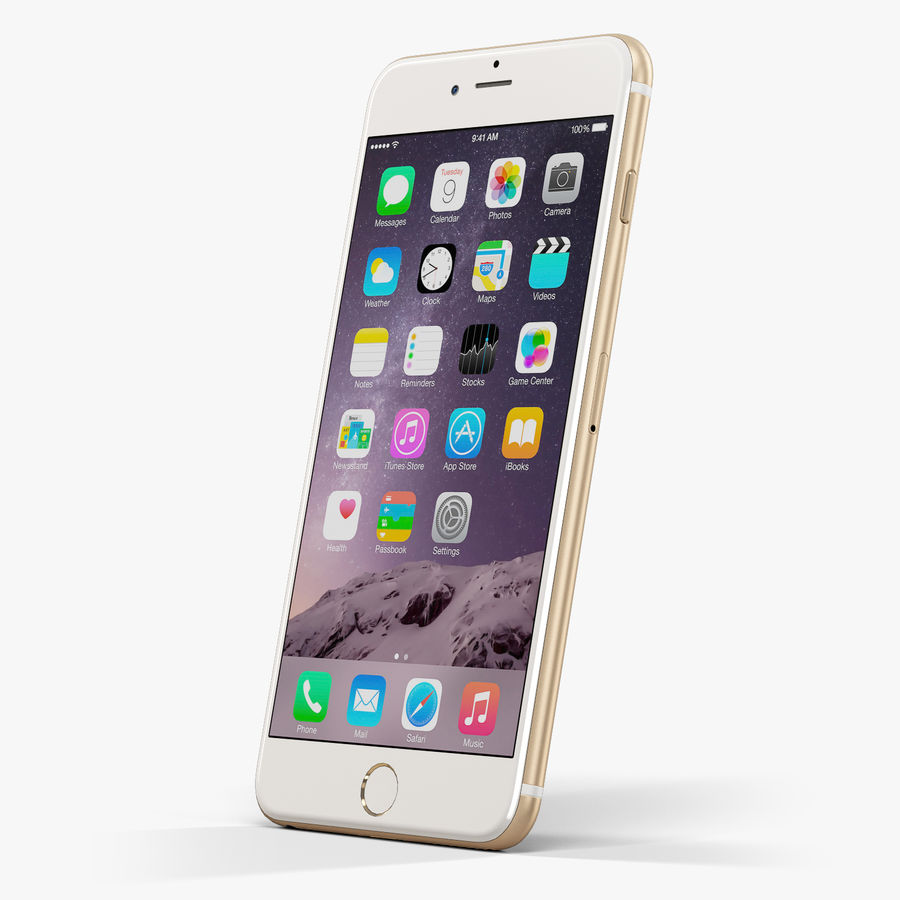 Apple iPhone 6 Plus royalty-free 3d model - Preview no. 3