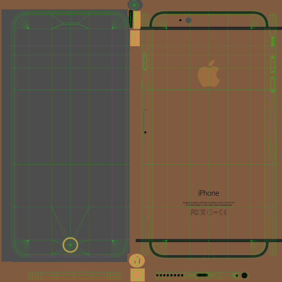 Apple iPhone 6 Plus royalty-free 3d model - Preview no. 21
