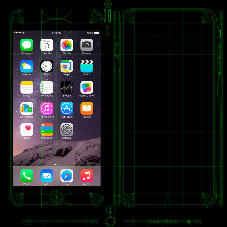 Apple iPhone 6 Plus royalty-free 3d model - Preview no. 18