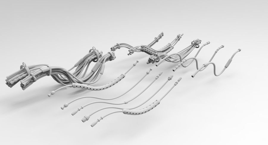 Sci-Fi Wires royalty-free 3d model - Preview no. 5