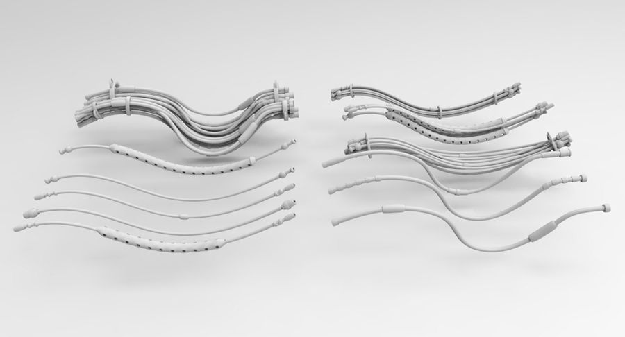 Sci-Fi Wires royalty-free 3d model - Preview no. 3
