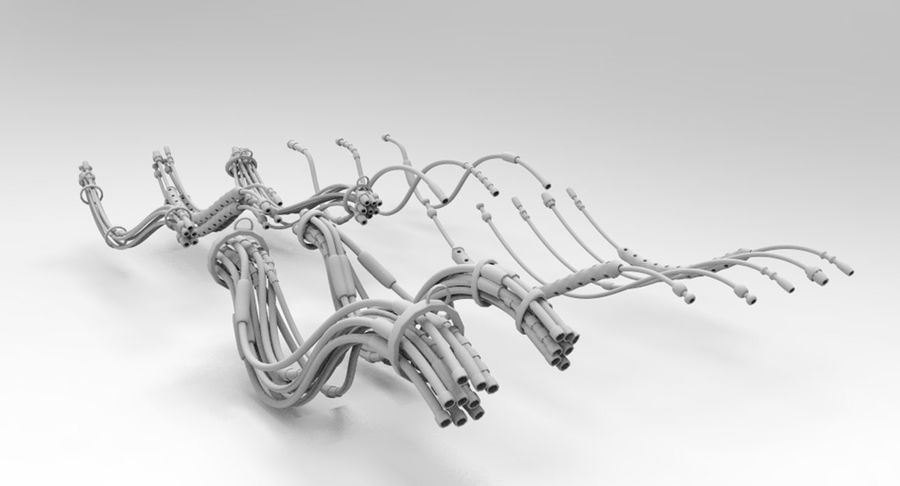 Sci-Fi Wires royalty-free 3d model - Preview no. 7