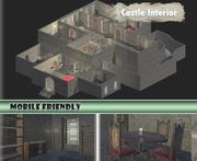 Zestaw do wnętrza zamku 3d model