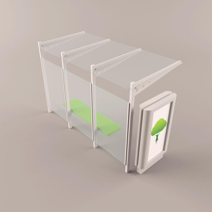 Bushalte royalty-free 3d model - Preview no. 6