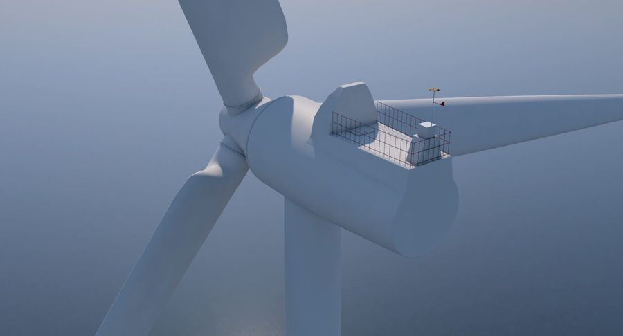 Wind Turbine 2 royalty-free 3d model - Preview no. 5