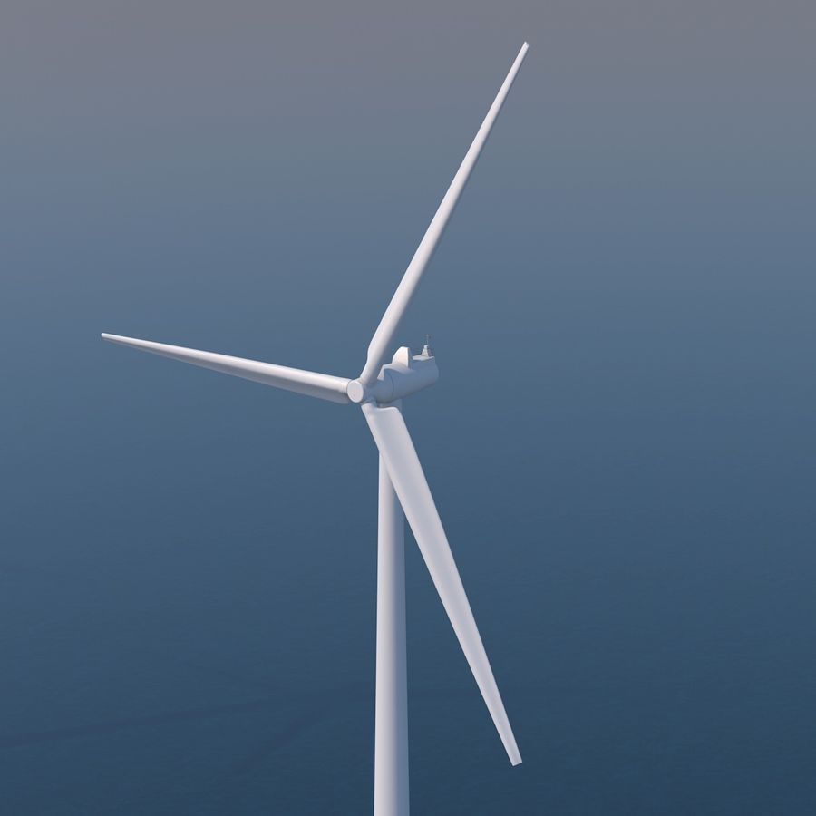 Wind Turbine 2 royalty-free 3d model - Preview no. 1