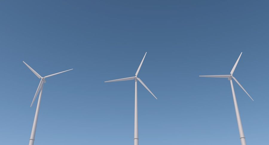 Wind Turbine 2 royalty-free 3d model - Preview no. 7