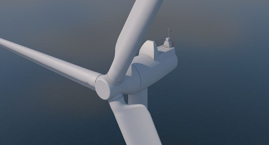Wind Turbine 2 royalty-free 3d model - Preview no. 2